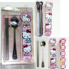 Sendok Garpu Stainless Tabung Hello Kitty