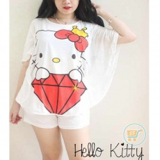 Setelan Hello kitty Big Diamond