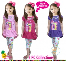 Setelan Little Pony Flower And Love (Ukuran 2 pink)