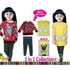 Setelan Mickey Minnie 2 in 1 (Ukuran 4 - 12)