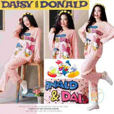 Setelan Panjang Donald And Daisy Duck