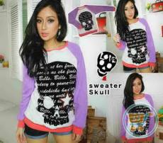 Sweater Skull Star Purple