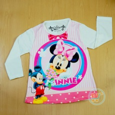 Kaos Minnie Flower From Mickey (Ukuran 4 - 14)