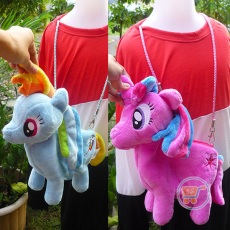 Tas Boneka Little Pony Selempang Small (Pink, Ungu)