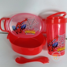 Tempat Bekal Spiderman Set Oval