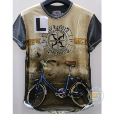 Tshirt Bicycle Hand Crafted Large