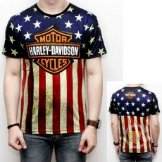 Tshirt Harley USA Flag