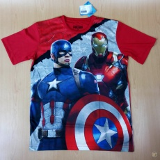 Tshirt Iron Man Captain Amerika Original Marvel (Ukuran M - XL)