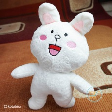 Boneka Line Emoticon Happy Size M (Yelpu)
