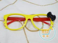 Kacamata Gaya Hello Kitty Yellow Black