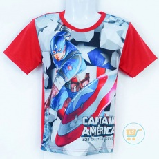 Kaos Captain America Action (Ukuran 4 Merah)