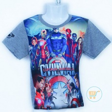 Kaos Avengers Civil War (Ukuran 4 - 8)