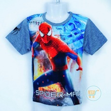 Kaos Spiderman On Fire (4,6,8)