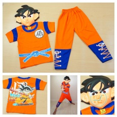 Setelan Dragon Ball With Mask (Ukuran 4 - 20)