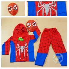 Setelan Spiderman With Mask (Ukuran 4 - 14)