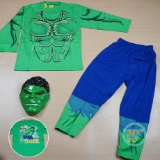Setelan Hulk With Mask (Ukuran 16 - 20)