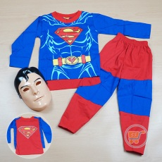 Setelan Superman With Mask (Ukuran 4 - 20)