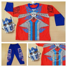 Setelan Transformers With Mask (Ukuran 4 - 20)