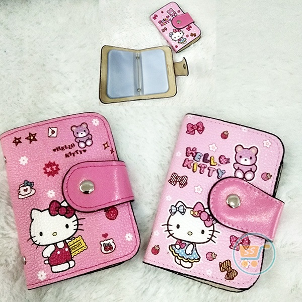 Dompet Kartu Hello Kitty Kulit