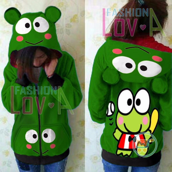 Jaket Keroppi Tennis Cute Ears