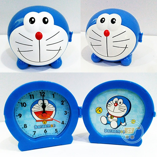 Jam Doraemon With Frame Doraemon Head