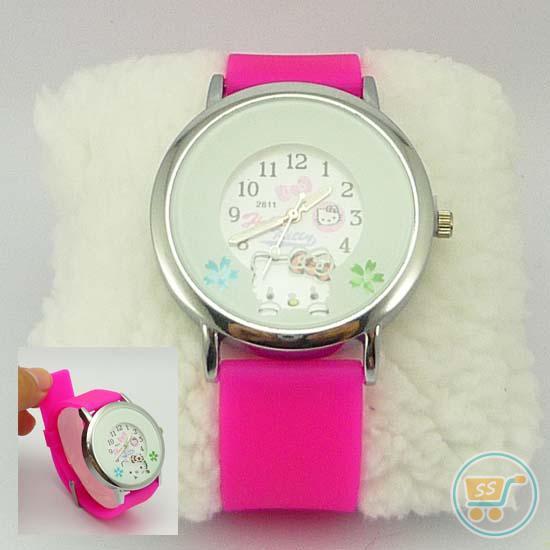 Jam tangan Hello Kitty Head Flower