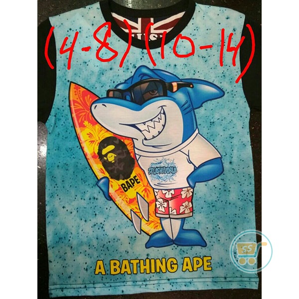 Kaos Bathing Ape (ukuran 10 - 14)