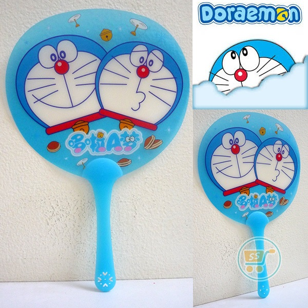 Kipas Doraemon Head Couple