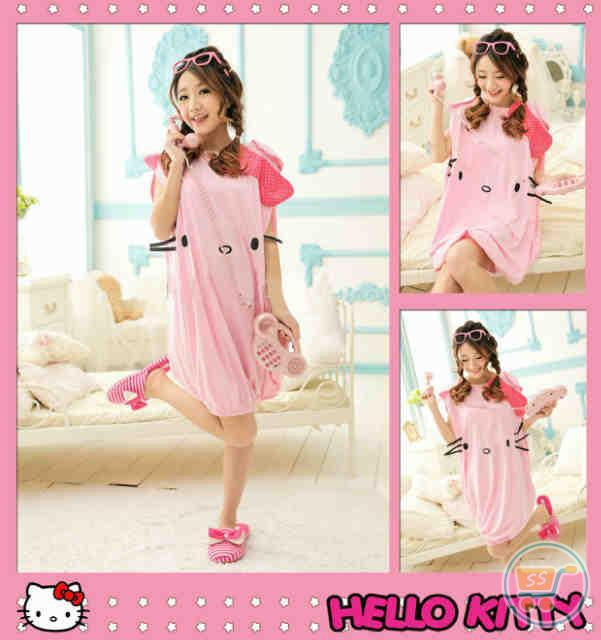 8a5b8640c Jual - Mini Dress Hello Kitty Applikasi