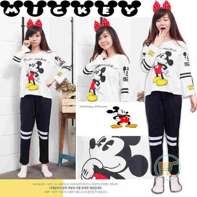 Setelan Panjang Mickey Mouse Classic