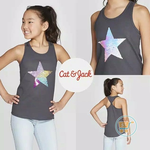 Tanktop Cat & Jack Star Flip Sequin