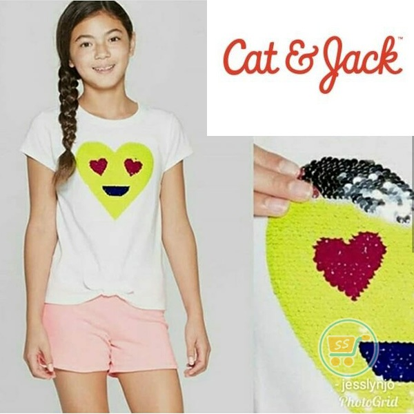 Tshirt Cat & Jack Love Flip Sequin