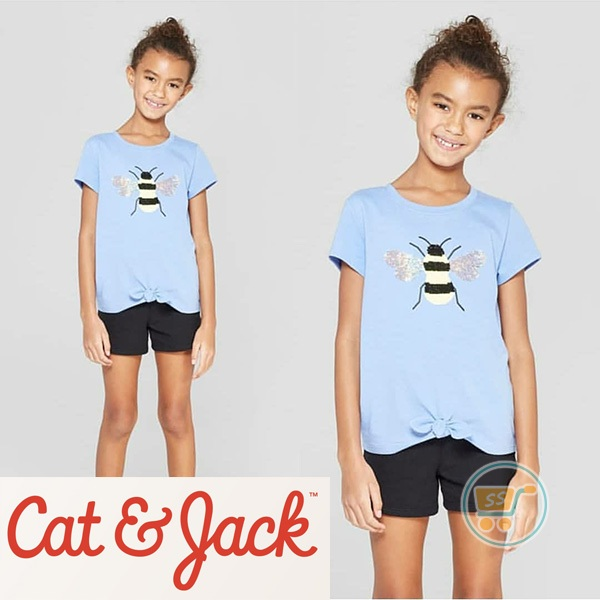 Tshirt Cat & Jack Bee Flip Sequin