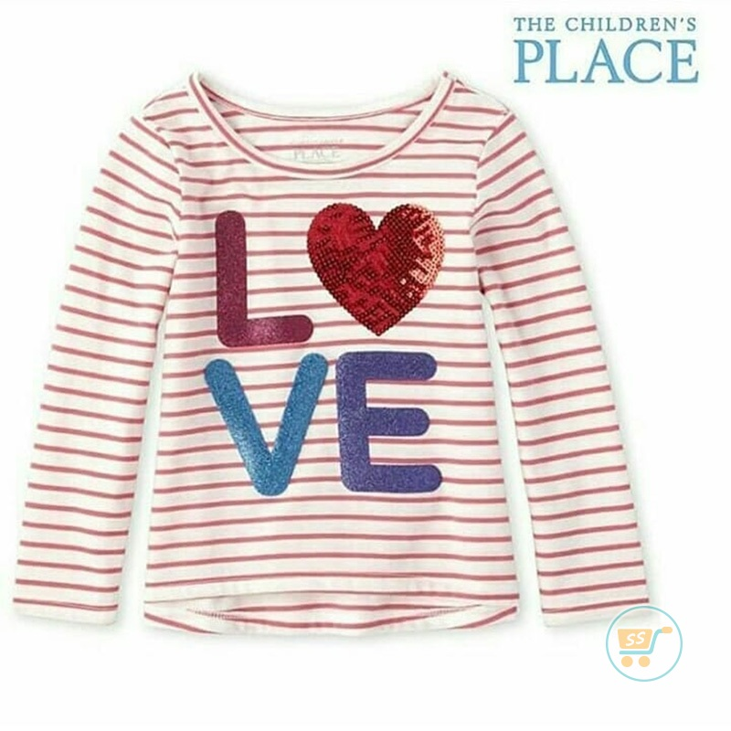 Tshirt Place Love Line Pink