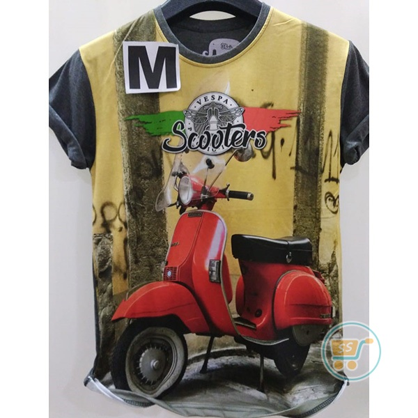 Tshirt Scooters Vespa Red