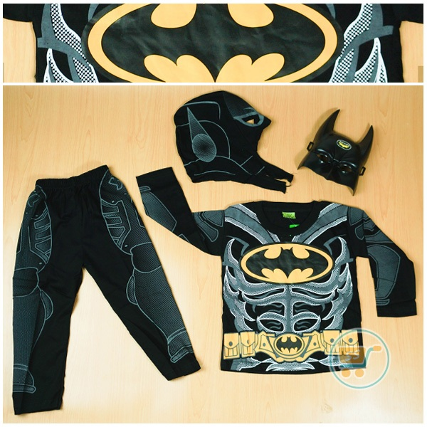 Setelan Batman Full With Mask (Ukuran 6)