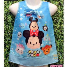 Dress Tsum Tsum Star (Ukuran 4 - 14)