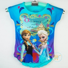 Baju Frozen Castle Disney Original (Ukuran 4 - 14)