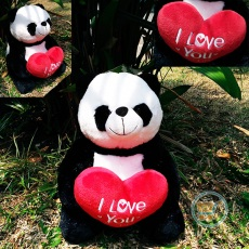 Boneka Panda Duduk I Love You