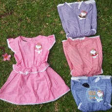Dress Anak Kotak Boneka