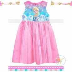 Dress Frozen Queen Elsa (Impor)