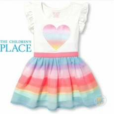 Dress Place Rainbow Heart Sequin