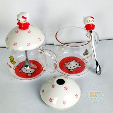 Gelas Hello Kitty Cute Transparant