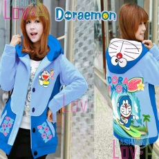 Jaket Doraemon Enjoy Surfing Hoodie Korea