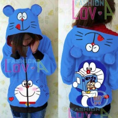Jaket Doraemon Reading Cute Ears