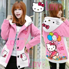 Jaket Hello Kitty Balon Hoodie Korea