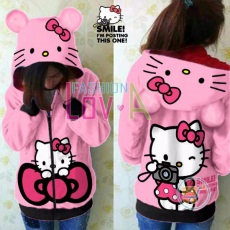 Jaket Hello Kitty Camera Cute Ears