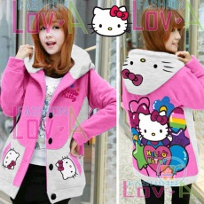 Jaket Hello Kitty Party Hoodie Korea