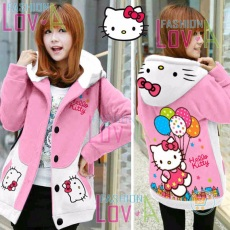 Jaket Hello Kitty Star Balloon Hoodie Korea
