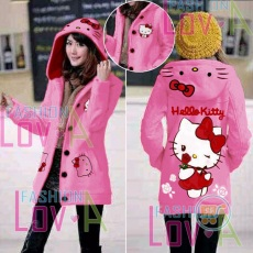 Jaket Hello Kitty Red Rose Hoodie Long